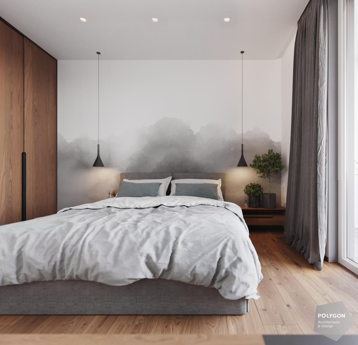 візуалізація інтер'єр спальні у #brody_apartment від Polygon