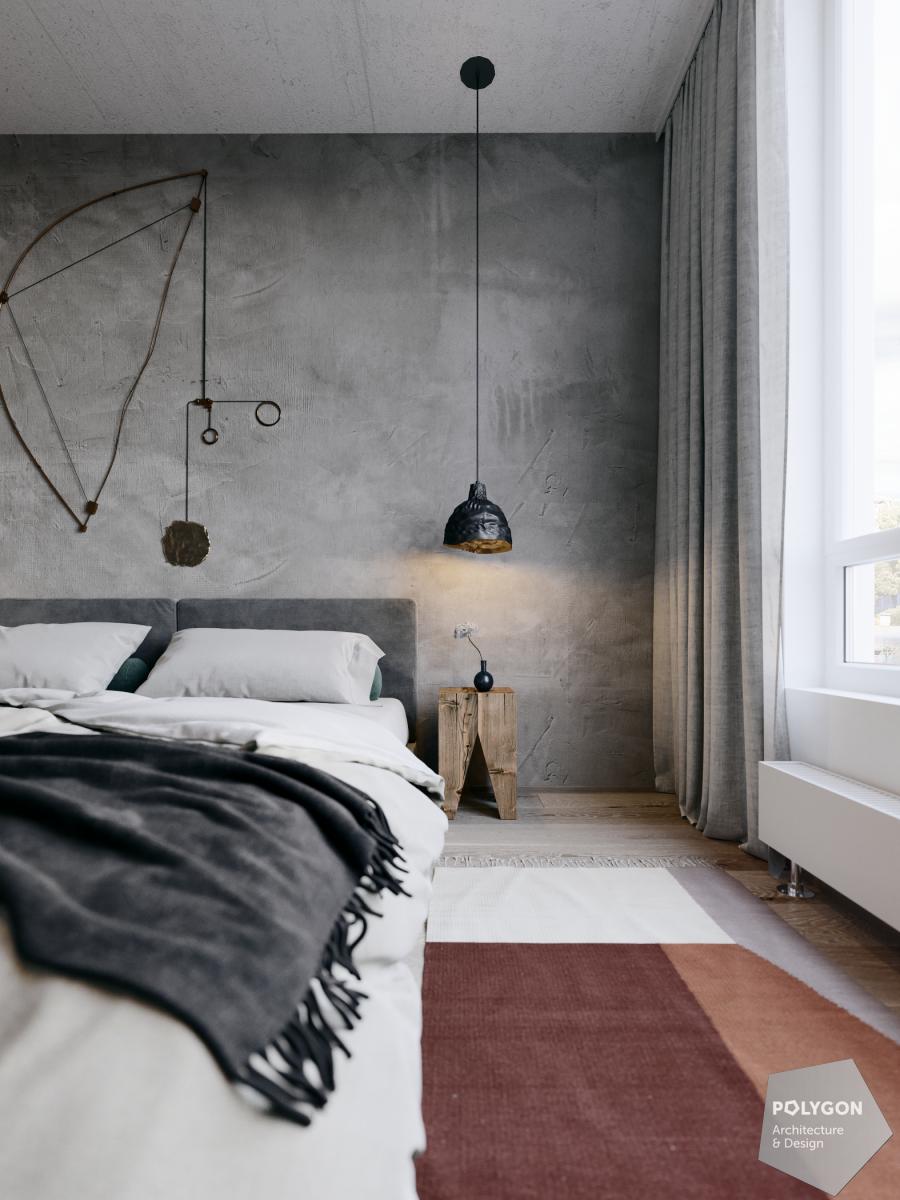 візуалізація інтер'єру спальні у #love_apartment від polygon