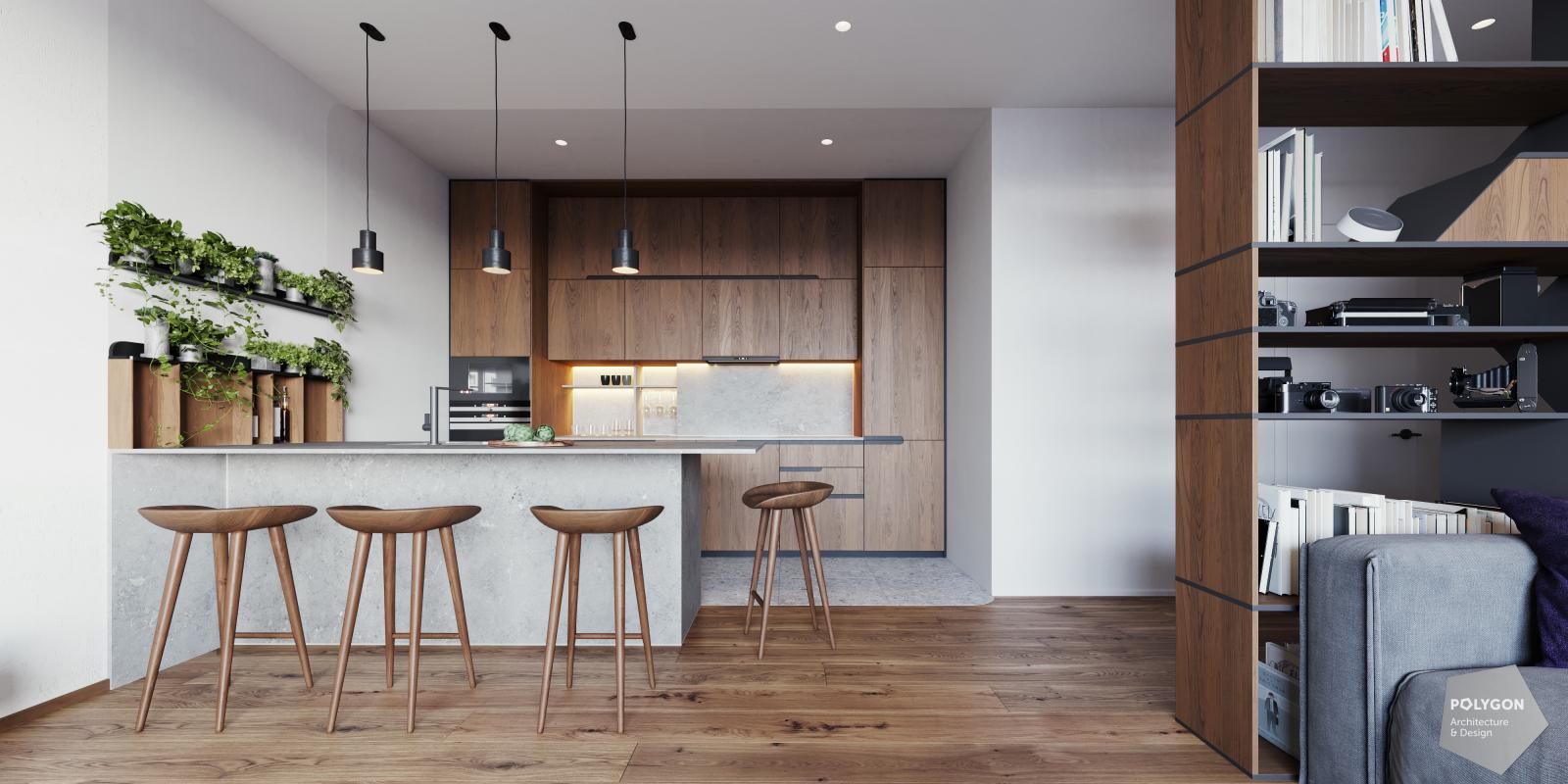 візуалізація інтер'єр кухня у #brody_apartment від Polygon