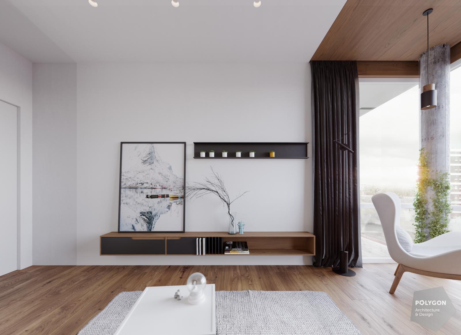 візуалізація інтер'єру кабінета у #brody_apartment від Polygon