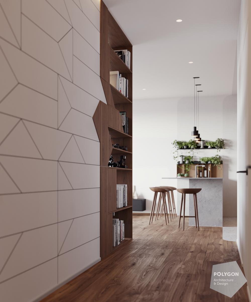 візуалізація інтер'єр коридора в #brody_apartment від Polygon