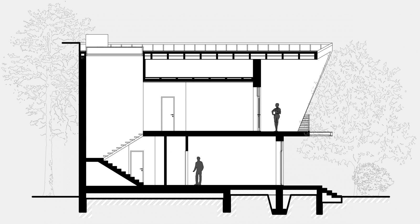 розріз планування двоповерхового будинку