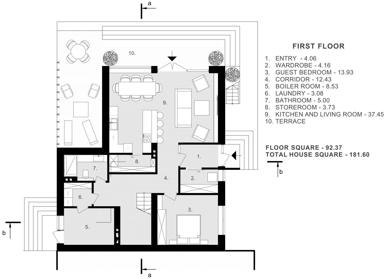 приклад планування будинку