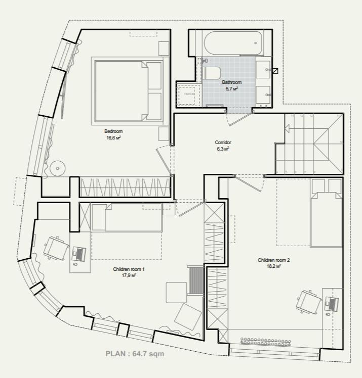 план розташування меблів 2-ого поверху