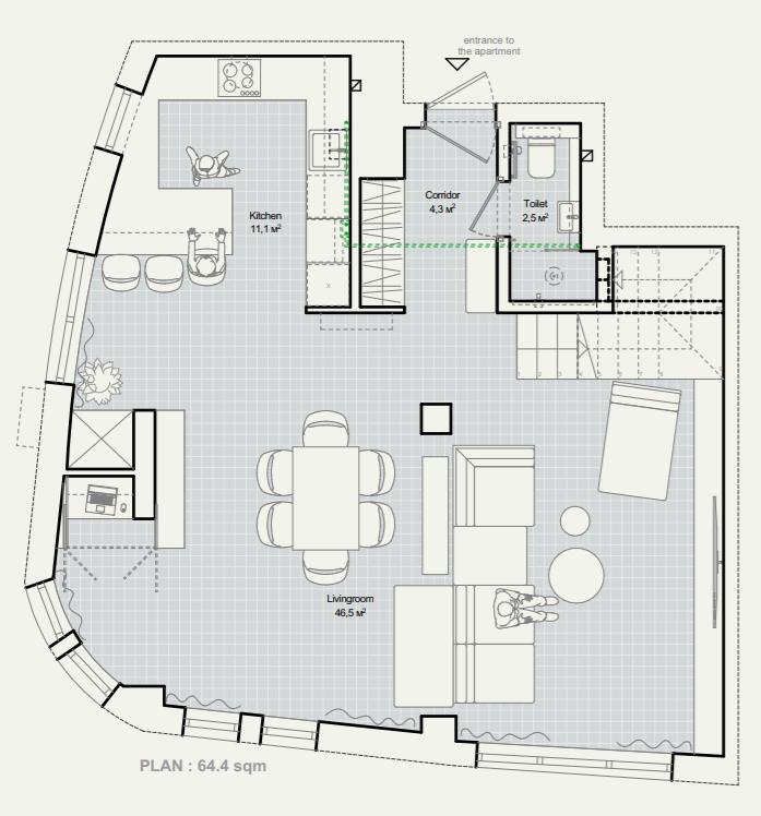 план розташування меблів 1-ого поверху