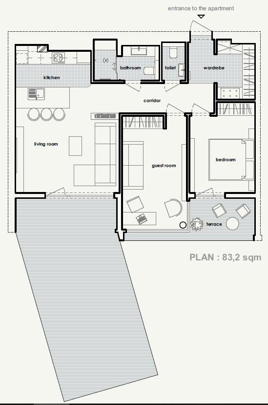план розташування меблів у #brody_apartment від polygon