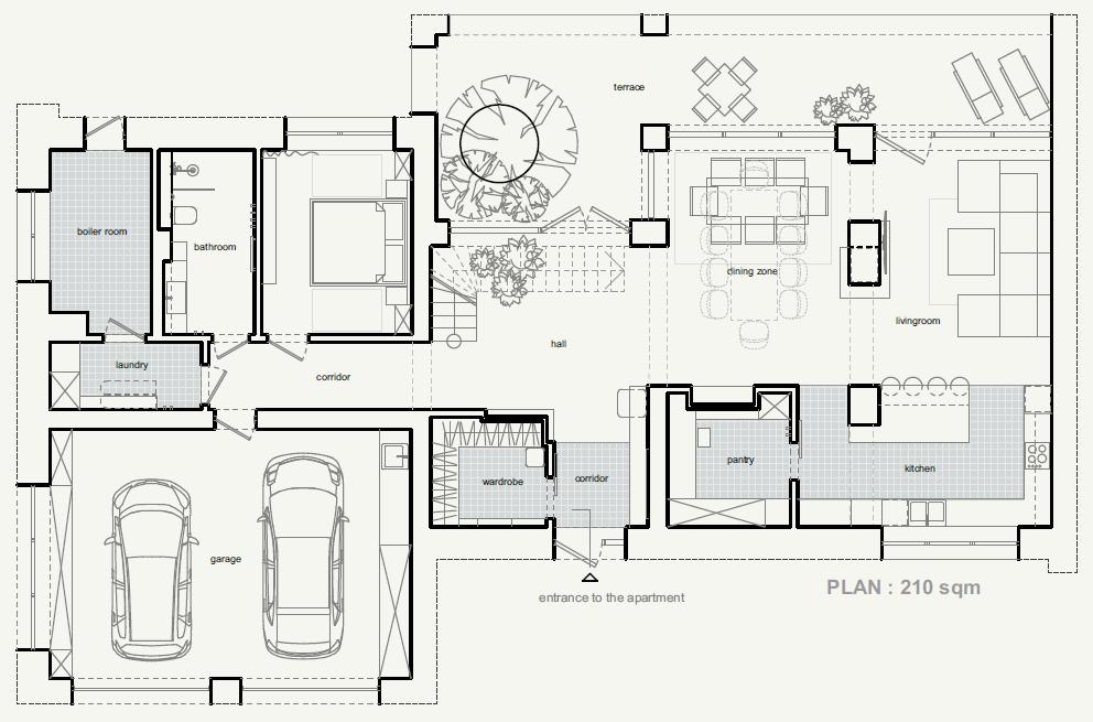 план розташування меблів