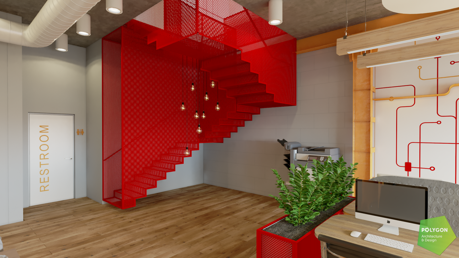 Дизайн ІТ-офісу для компанії «Forbytes» від polygon