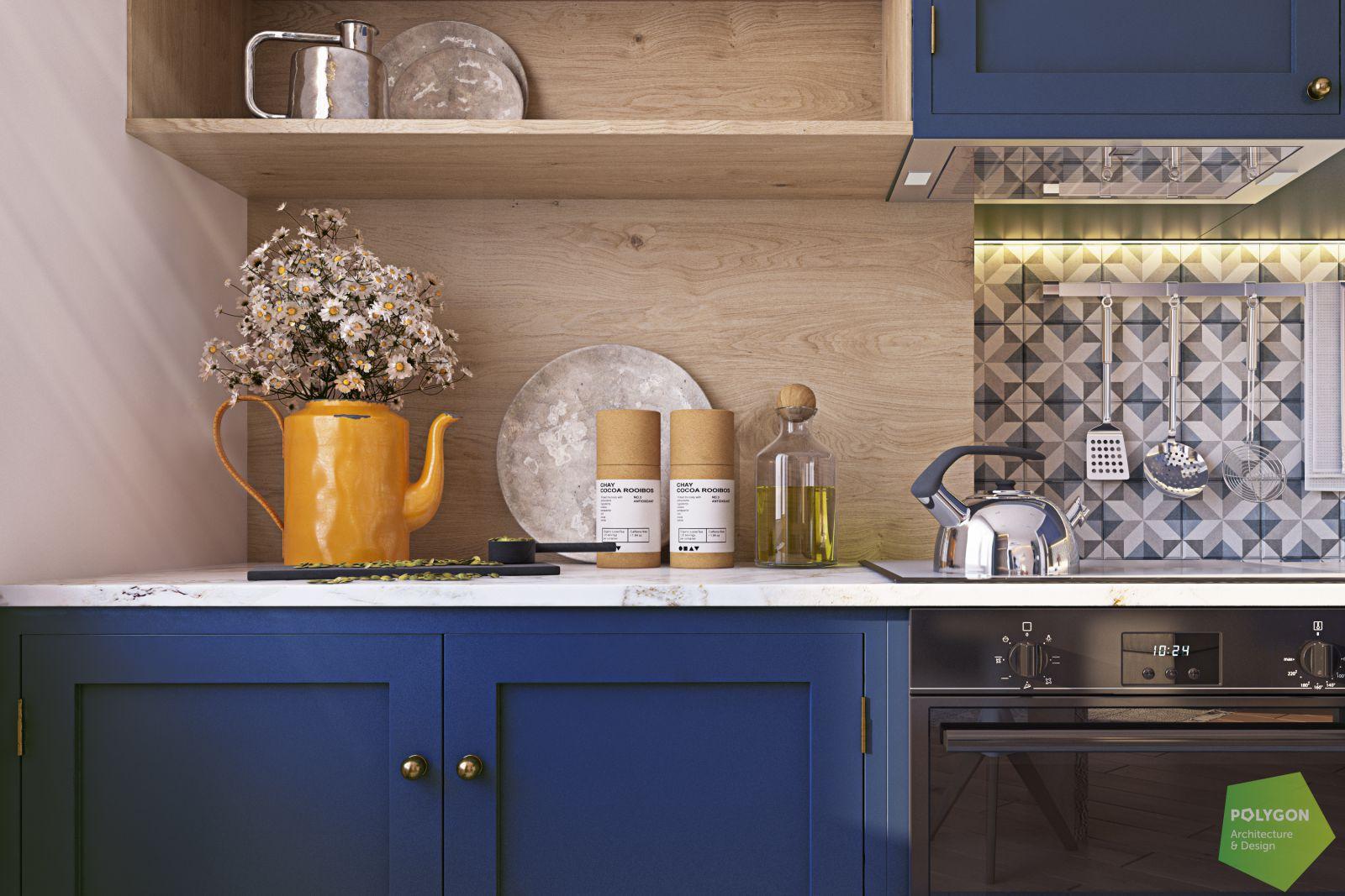візуалізація кухні у #sea_house від polygon
