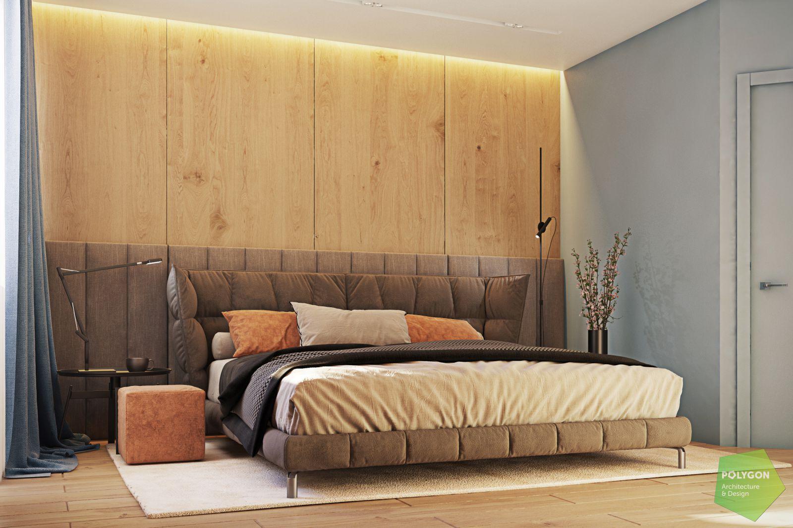 візуалізація спальні у #sea_house від polygon