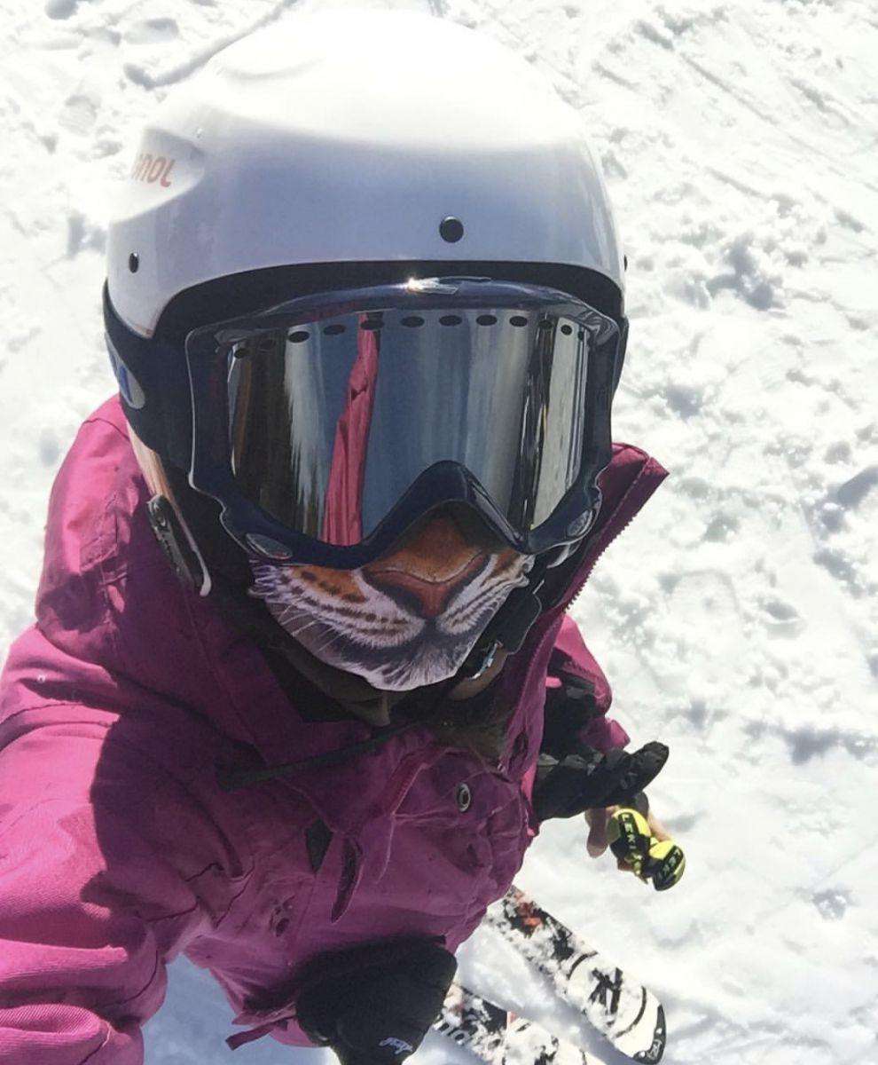 Марина Клочаник на лижах