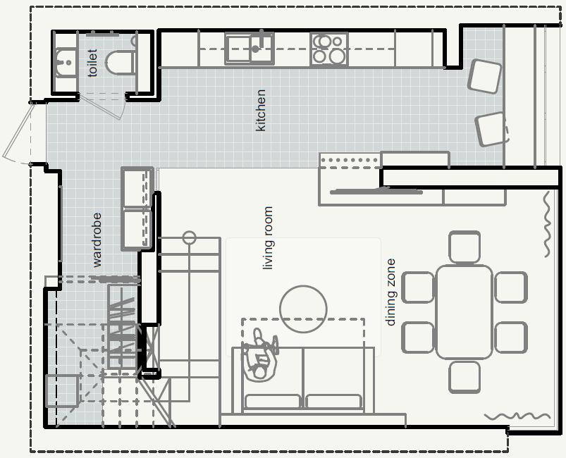 план розташування меблів на 1-му поверсі