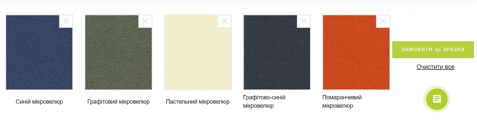 зразки тканин
