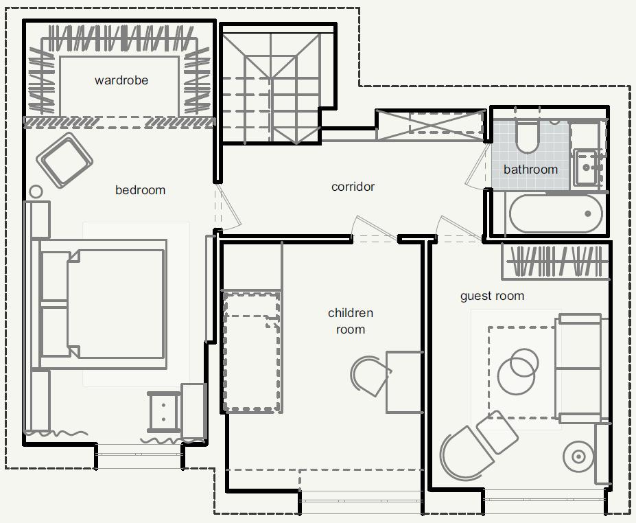 план розташування меблів на 2-му поверсі