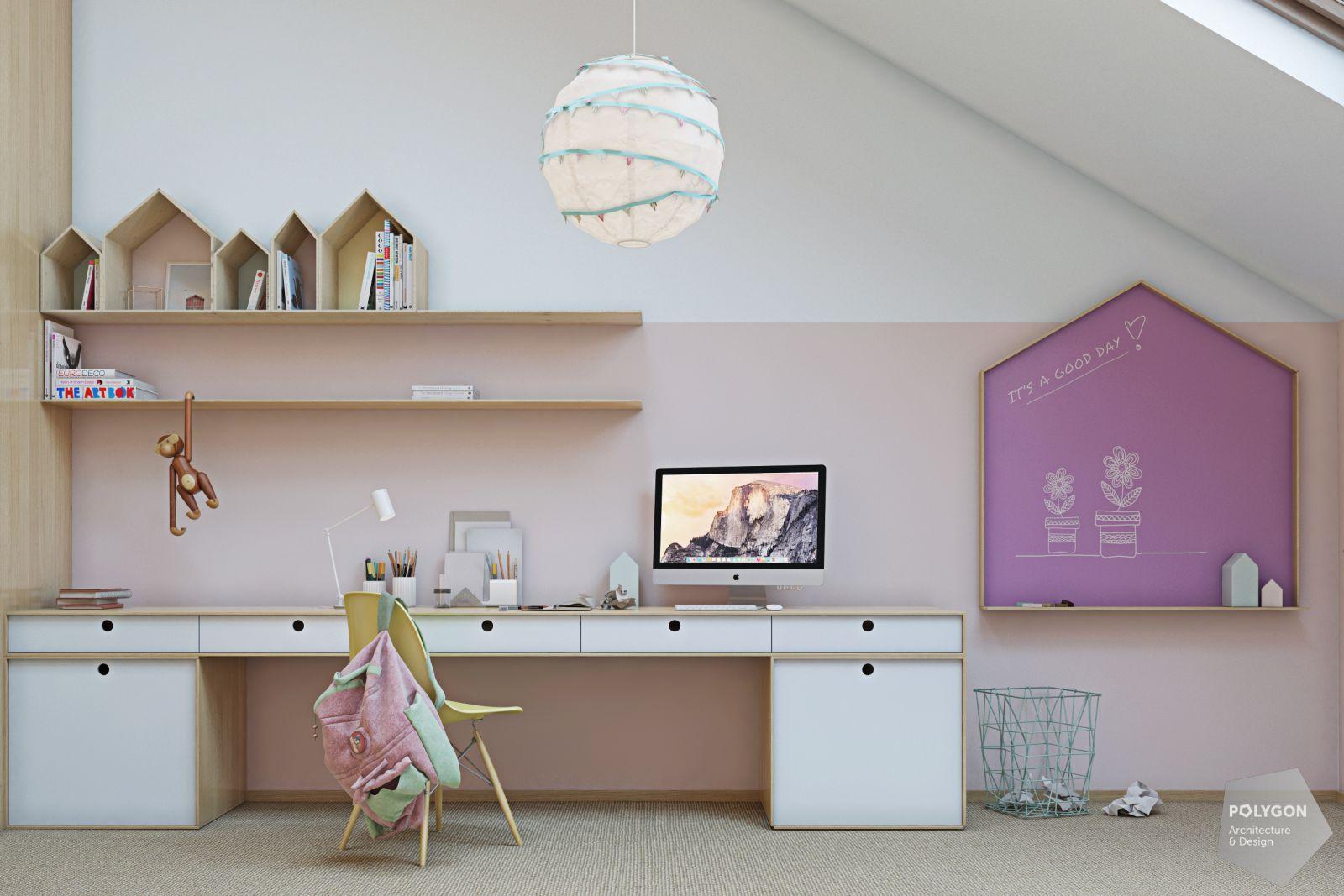 Візуалізація дитячої кімнати у проекті «Дизайн дворівневої квартири: Chuchko house»