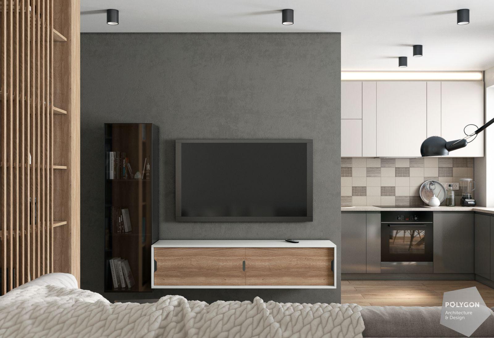 Візуалізація вітальні в авторському проекті Євгенії Кудрі