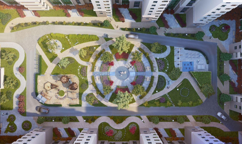 Концепція внутрішнього двору ЖК Hydropark, від  ІБК Вертикаль