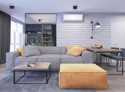 Сучасний дизайн з елементами лофту:  Newloft flat