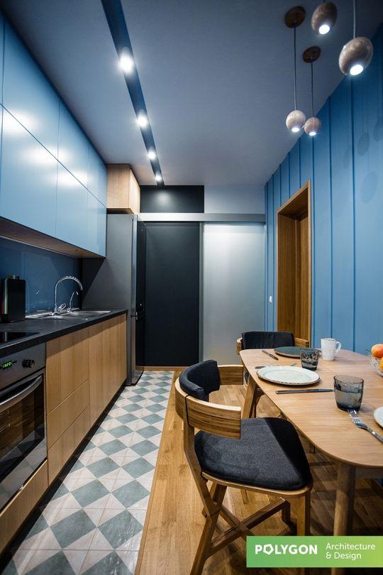Дизайн інтер'єру: Blue flat
