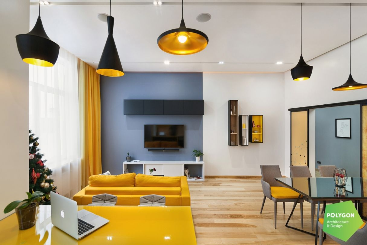"""Дизайн інтер'єру """"Під ключ"""": Yellow flat"""