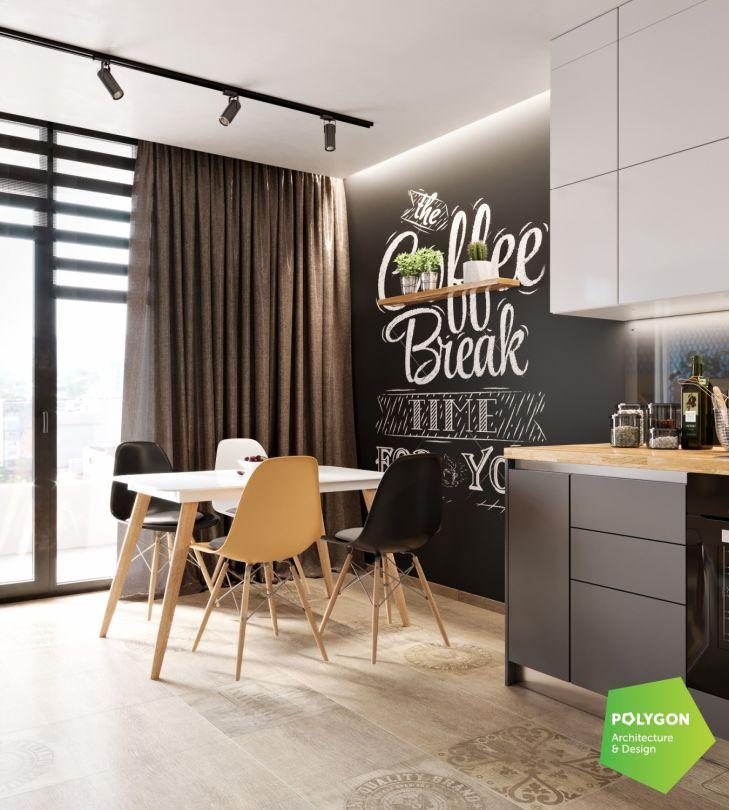 Cучасний інтер'єр квартири: Shcherb`yak flat