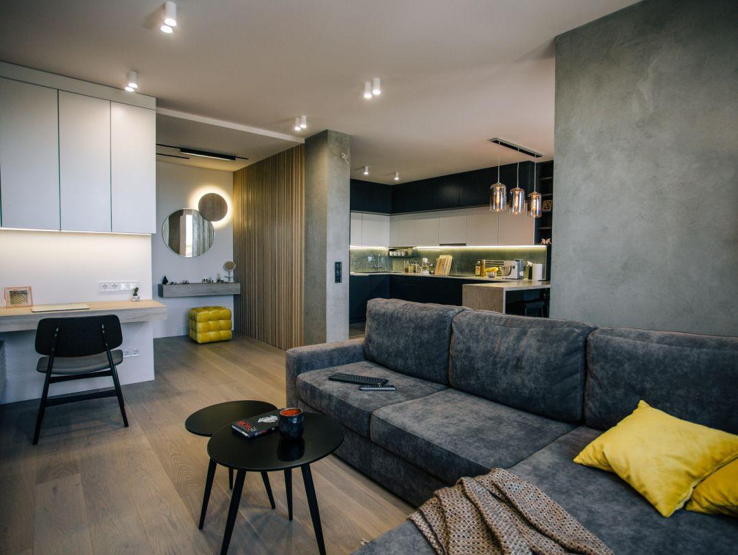Втілений проект інтер'єру квартири: Synyava flat