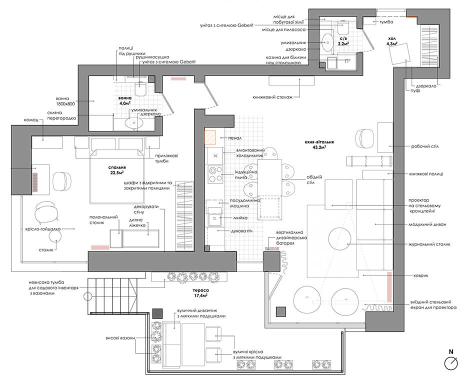 sxema Gnizdo apartment
