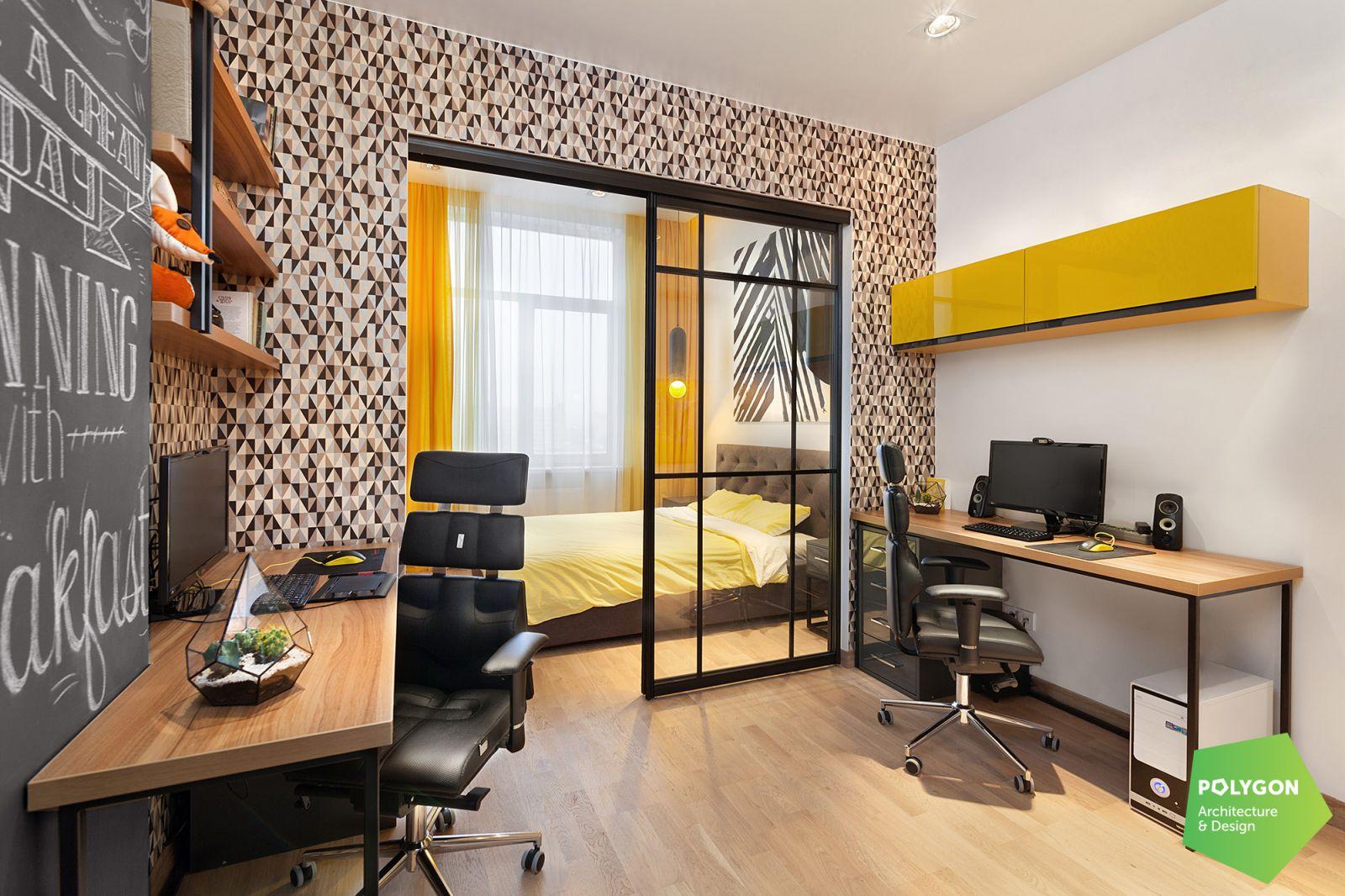 v kabineti Yellow flat