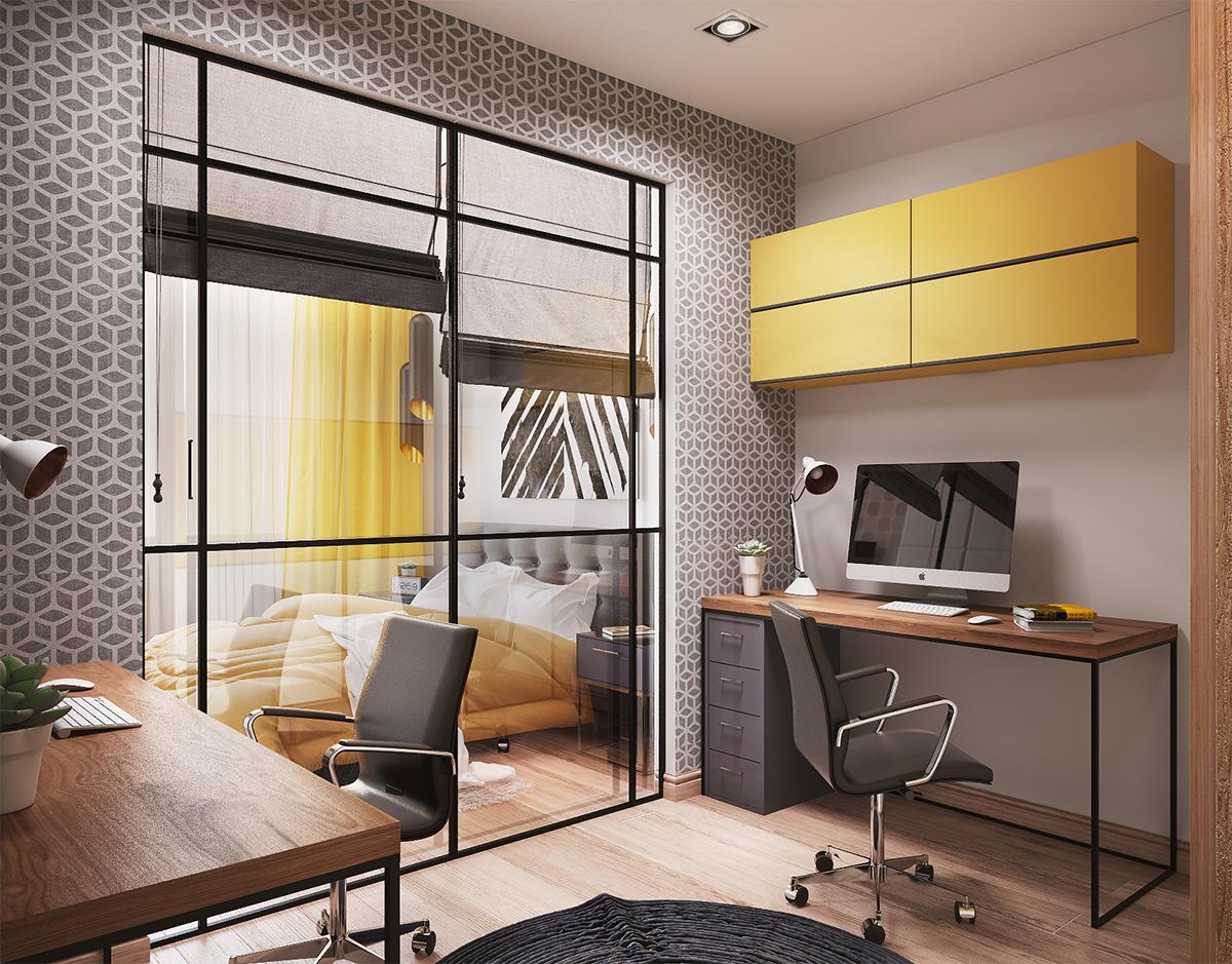 kabinet Yellow flat